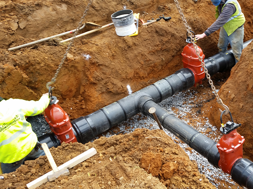 Open cut pipeline installation