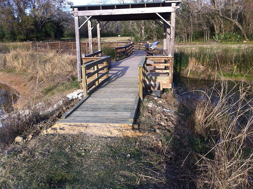 Bridge to recreation area