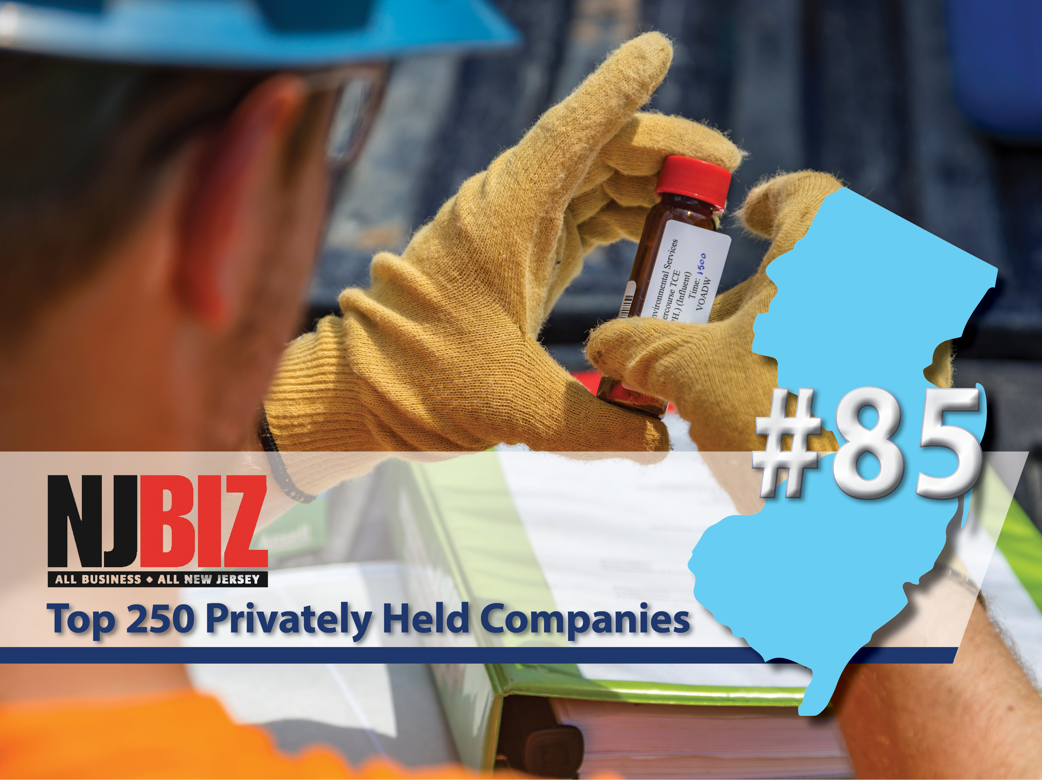 NJBIZ Top Privately Held Companies Graphic - GES 85