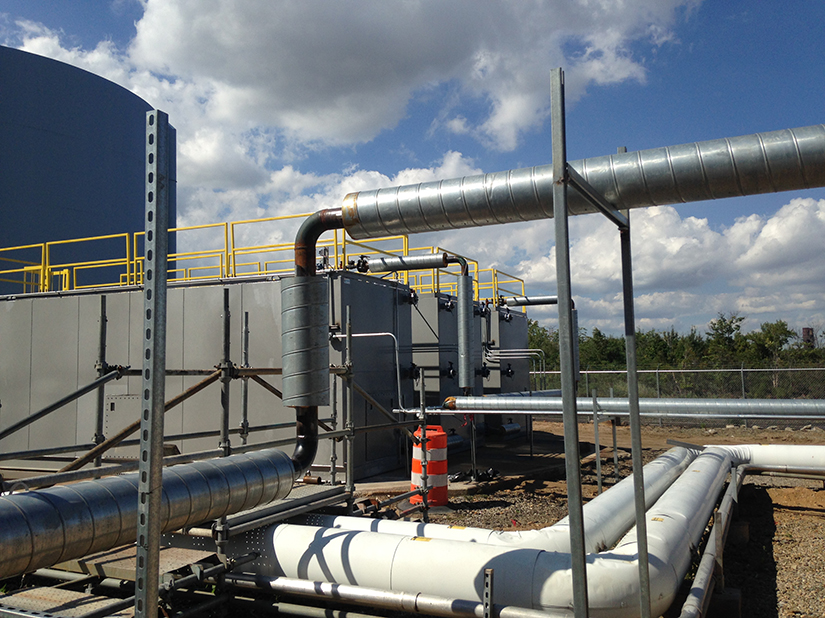 power plant view of remediation system