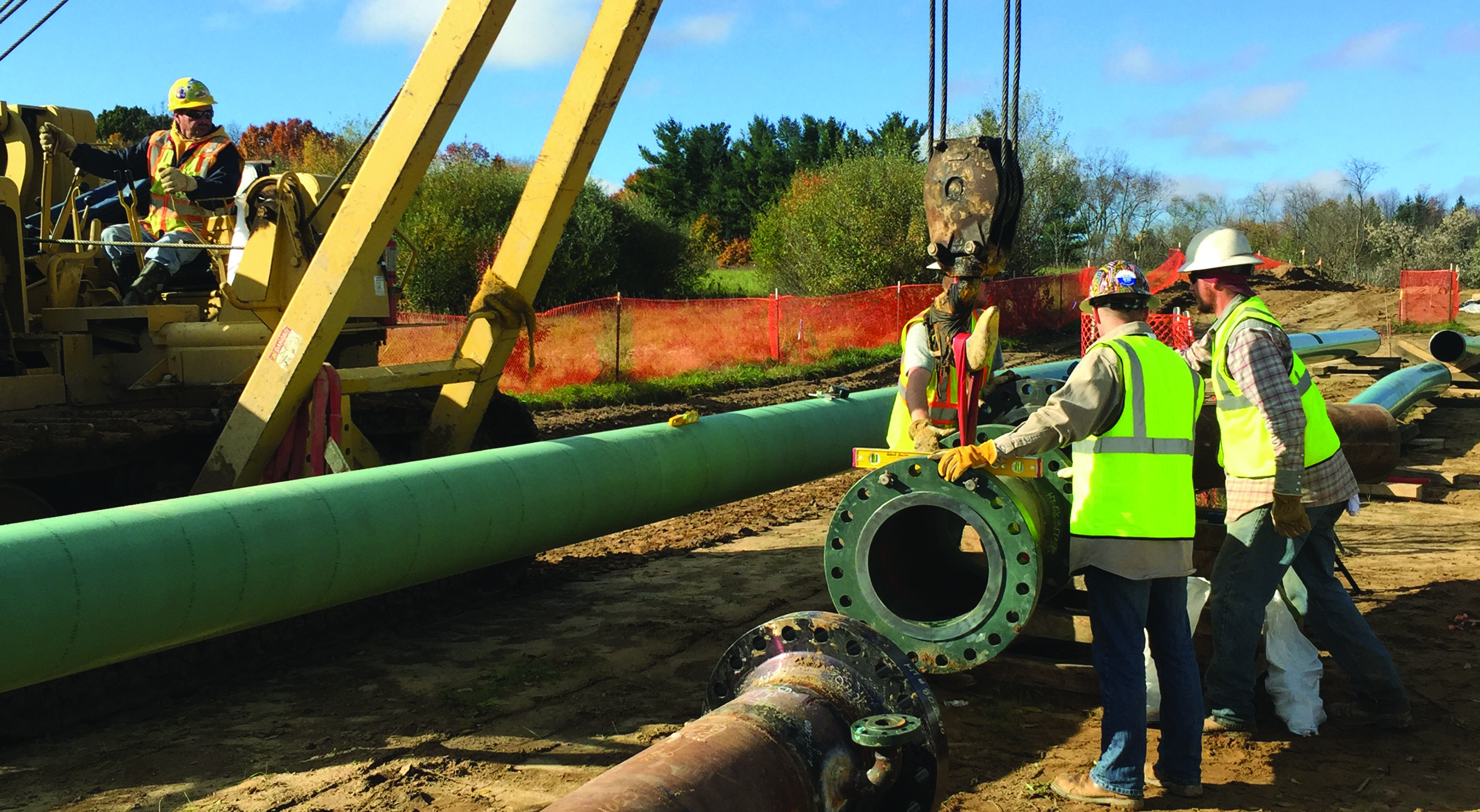 technicians, health and safety pipeline construction